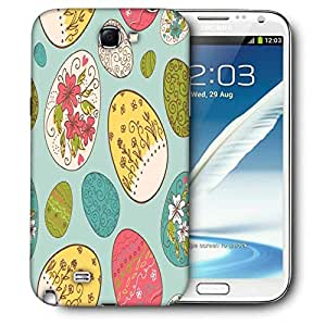 Snoogg Multicolor Eggs Printed Protective Phone Back Case Cover For Samsung Galaxy Note 2 / Note II