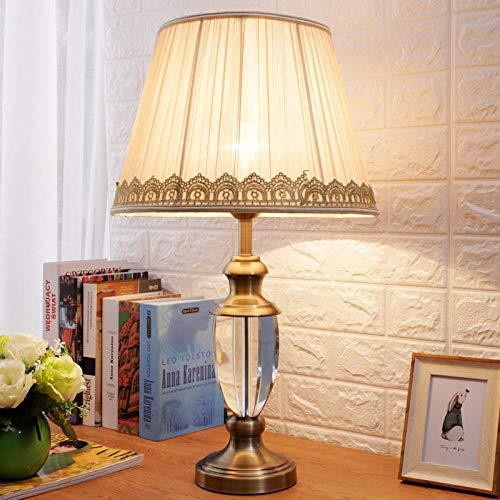 Lámpara de mesa de cristal lámpara de mesita de noche estudio ...
