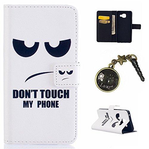 Preisvergleich Produktbild PU Silikon Schutzhülle Handyhülle Painted pc case cover hülle Handy-Fall-Haut Shell Abdeckungen für Smartphone Samsung Galaxy A3 (2016) A310F+Staubstecker (Q2)