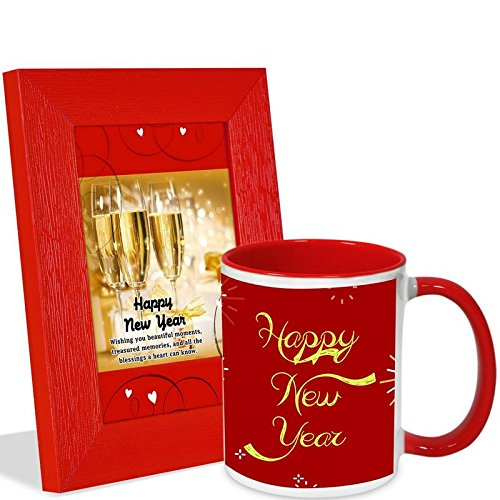 Alwaysgift Happy New Year Quotation Photo Frame & Mug Hamper