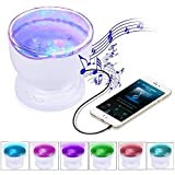 BestFire Ocean Wave Lampe de Projecteur avec Lecteur de Musique Atmosphere LED Nuit Projector Light for Kids