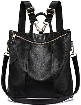 Rucksack Damen Elegant Leder Schulrucksack Umhängetasche Handtaschen Schulranzen Schultasche Daypack Schultertasche...