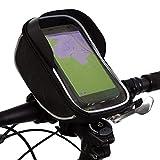 Fahrradhalterung Halter Lenkradhalterung Bike Holder mit wasserdichter Schutzhülle Tasche Universal für Smartphones, Handy, Navi, GPS ! Halterung 360 Grad drehbar / verschiedene Taschengröße z.B. für iPhone 6 7 Plus 6s 7s Plus, Samsung Galaxy S8 S6 S6 S5 S4 Sony Xperia Z3 Z4 Z5 OnePlus 3 ZTE Axon 7 LG G5 G6 G4 Honor 8