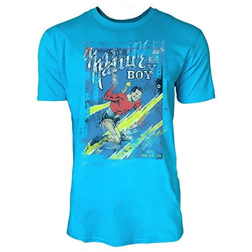SINUS ART® Nature Boy Herren T-Shirts in Karibik blau Cooles Fun Shirt mit tollen Aufdruck (Karibik-boys)