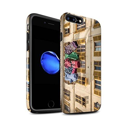 STUFF4 Glanz Harten Stoßfest Hülle / Case für Apple iPhone 7 Plus / Lust Tasse Tee Muster / Vorstellen Kollektion Schöne Socken