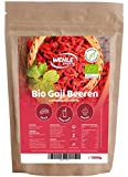 Bacche di Goji da 1kg non solforate, essiccate al sole, senza additivi, bacche originali di Goji │1000g bacche di Goji crude qualità Superfood bacche testate in Germania - Wehle Sports