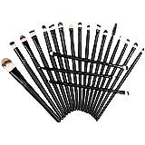 Eleacc® 20tlg Make UP Pinsel Pinselset Schminkpinsel Kosmetikpinsel Kosmetik Brush Schwarz