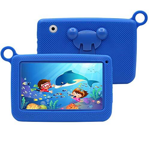 Tablet para Niños 7 Pulgadas con WiFi Android 6.0 Quad Core 2GB de RAM, 32GB de Memoria Interna, Doble Cámara, Google Play de Juegos Educativos.