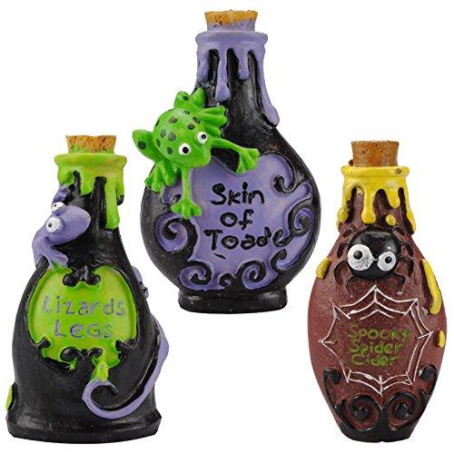 Hexe Halloween Dekorationen - Halloween, gruselige Hexe, Zaubertrankflaschen, Polyresin, Party-Dekoration,