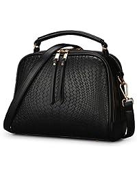 WEIWEI Ladies Shoulder Bag, Messenger Bag, Embossed Tassel Bag, Fashion Shoulder Messenger Bag