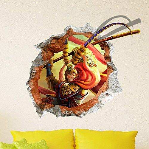 Big Bazaar Bazaar 3D Baby Kind Raum Karikatur reizender kühler Affe Wandaufkleber Removable Papier Aufkleber Wand Kunst DIY Geschenk Dekoration