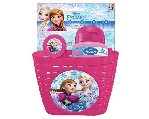 Eurasia Disney Frozen Zubehörset - FAHRRADKORB + FAHRRADKLINGEL + TRINKFLASCHE