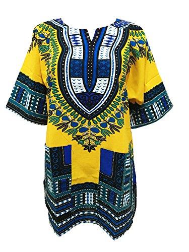 Africano Dashiki Camicie per uomini e donne manica corta africano Dashiki Stampa Tradizionale Africana indossare (Mens Dashiki)