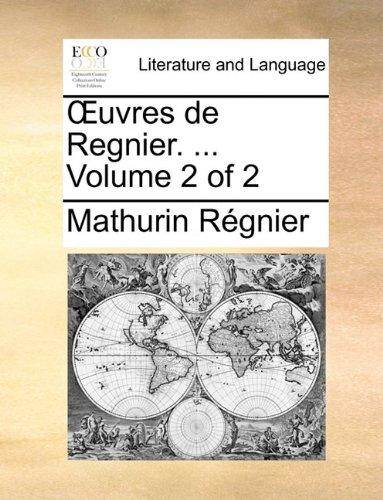 Œuvres de Regnier. ...  Volume 2 of 2