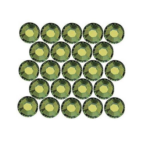 SWAROVSKI ELEMENTS Hotfix 2028 Strassstein, flache Rückseite, Kristallgröße SS20, 50 Stück, Olivine -