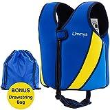 Limmys Premium Neopren Schwimmweste für Kinder, ideale Schwimmhilfe für Jungen und Mädchen, EXTRA Kordelzugtasche inklusive