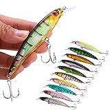Sougayilang Minnow señuelos de pesca Crankbaits de pesca cebos duros Swimbaits barco Topwater señuelos para trucha Bass Perca pesca, Style-E 10PCS