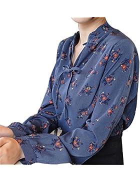 Primavera Color Moda El Lujo Todo-fósforo La Textura El Temperamento Camisa De Manga Larga
