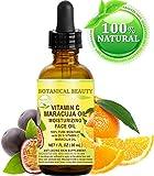VITAMIN C MARACUJA Öl. Feuchtigkeitsspendendes Gesichtsöl. Anti-Aging, regenerierend und pflegend. 20% Vitamin C und 100% reines Maracuja-Öl. 1 Fl. Oz - 30 ml. by Botanical Beauty.