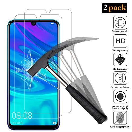 Vidro temperado ANEWSIR 2X para Huawei P Smart 2019, Pelicula protetora para Huawei P Smart 2019 Vidro temperado protetor de tela [HD alta transparência] [bordas arredondadas de 2.5D]
