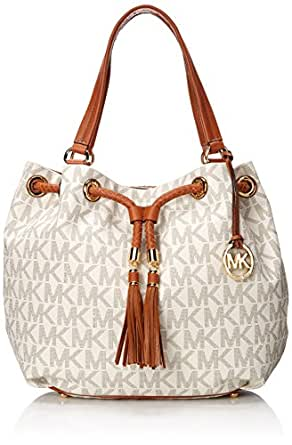 Michael Kors Handbag Jet Set Item Large Signature Tote Vanilla