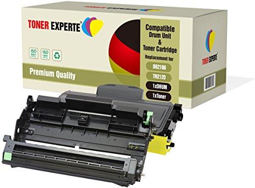 TONER EXPERTE Kit 2 DR2100 Tamburo & TN2120 Toner compatibili per Brother DCP-7030 DCP-7040 DCP-7045N HL-2140 HL-2150 HL-2150N HL-2170 HL-2170W MFC-7320 MFC-7340 MFC-7345DN MFC-7440N MFC-7840W