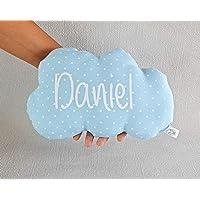 Cojín nube para bebé personalizado. *Novedad: Puedes añadir una casa personalizada, es el envoltorio perfecto para presentar de una manera diferente un regalo a un recién nacido.