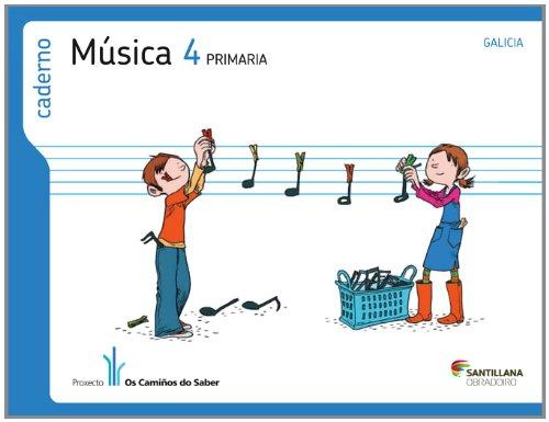 CADERNO MUSICA 4 PRIMARIA OS CAMIÑOS DO SABER - 9788499721934