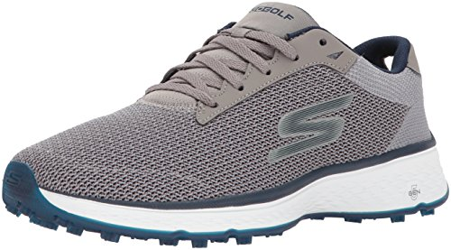 Skechers Golf Men's Go Golf Fairway Golf Shoe, Gray/Navy Mesh, 10 M US
