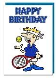 Geburtstagskarte–Tennis Motto–Dad–Mann–Brother–Sohn–Grandad–Boyfriend