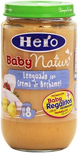Hero - Baby Natur - Lenguado con crema de Bechamel para 8 meses - 235 g - [pack de 6]