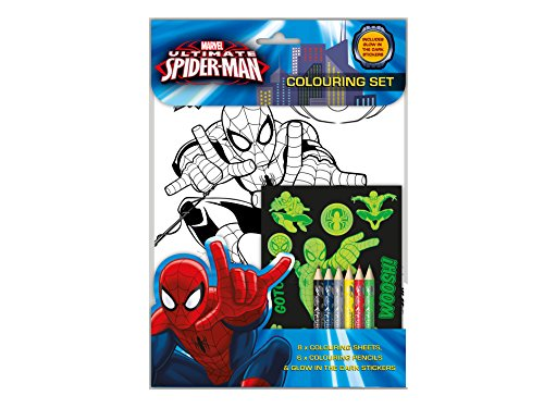 te Spiderman Glow in the Dark Malset (Glow In The Dark Party-taschen)