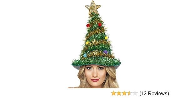 Weihnachtsbaum Hut für Weihnachten und Weihnachtsfeier Smiffys 41067