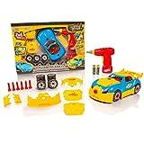 Take Apart 2 en 1 Voiture de Course de Jouets - Lights & Sounds Toy Kit de Construction - Construisez Votre Propre kit de Voiture - Meilleurs Jouets Cadeaux pour 4/5/6/7/8 Ans Garçons