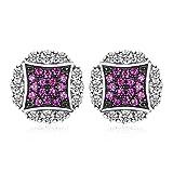 Jewelrypalace Pendientes Maravilloso 0.1ct Rubí Creado en plata...