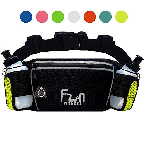 FunH2OBelt (Giallo - Grande) Cintura per Idratazione Hydration Running Belt - Marsupio Fitness per attività Outdoor con Tasca Impermeabile per iPhone, iPod, Samsung & Tutti Gli Smartphone