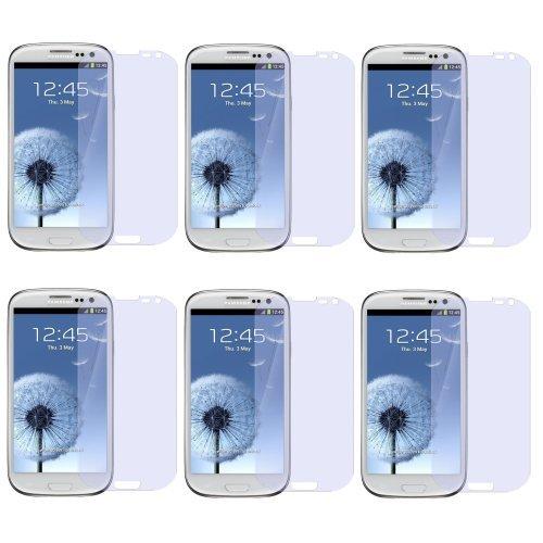 Avcibase 4260383182342 6x Klar Vorne Schutzfolie für Samsung Galaxy S3 i9300 inkl. 6x Microfasertuch