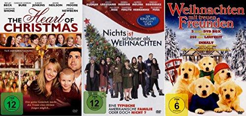 Preisvergleich Produktbild WEIHNACHT'S SPIELFILM COLLECTION (5 Filme - The Heart of Christmas - Nichts ist schöner als Weihnachten - Golden Winter - First Dog - Nur Hunde kommen in den Himmel ) [3 DVDs]
