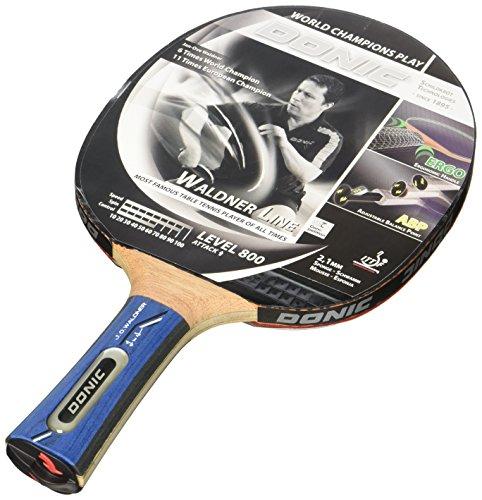 Donic Schildkröt Tischtennis-Schläger Waldner 800 inkl.Gratis-Lern-DVD, schwarz / rot