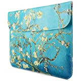 MacBook Pro 13 Inch MacBook Air 13 Inch MacBook Pro Retina 13 Inch Sleeve, Robustrion Premium Sleeve Cover For 13 Inch Laptops, Apple MacBook, HP, Dell, Surface Pro, Acer - Aqua Flower
