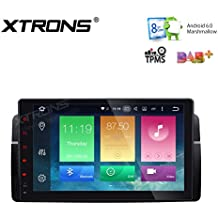 XTRONS Android 6.0Octa-core 64bits Pantalla Táctil Capacitiva de 9pulgadas reproductor de radio estéreo de coche Función de GPS, canbus, duplicado de pantalla OBD2vigilancia de la presión de los neumáticos para BMW E46M3320330325Rover MG
