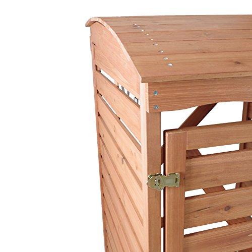 Mülltonnenverkleidung Holz Mülltonnenbox für 2 Mülltonnen 240l Müllcontainer - 6