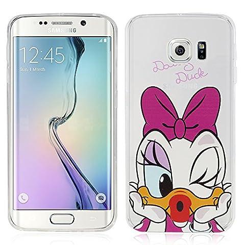 VComp-Shop® Transparente Silikon TPU Handy Schutzhülle mit Motiv Cartoon Disney für Samsung Galaxy S6 edge SM-G925F - Daisy Duck