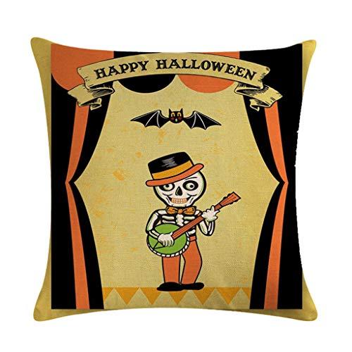 Kostüm Muster Pharao - Scdincier Happy Halloween (Dekokissen Fall Cartoon Kürbis Muster) Party Sofa Couch Dekorative Baumwolle Leinen Kissenbezug