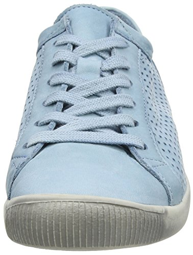Softinos Ica388sof, Sneakers basses femme Turquoise (Pastel Blue)