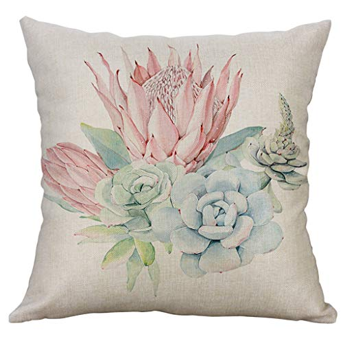 Kissenbezug Kissenhülle 45x45 cm Dasongff Pflanzen Kissenbezüge Gedruckt Sofakissen Sofa Bett Home Decorative Weich -