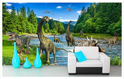 WH-PORP 3D Tapete Custom Non-Woven 2015 New Die 3 D TV-Einstellung Wand durch Raum und Zeit der Dinosaurier Schönheit Wandhauptdekoration-200cmX140cm - Tv New