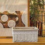 TIANLIANG04 Il cesto storage tessitura rattan soggiorno scatola di archiviazione willow guanto da forno casella,38*28*18