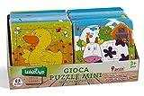 Globo Toys Globo - 36479 10 Assorted Legnoland Wooden Puzzle (9-Piece)