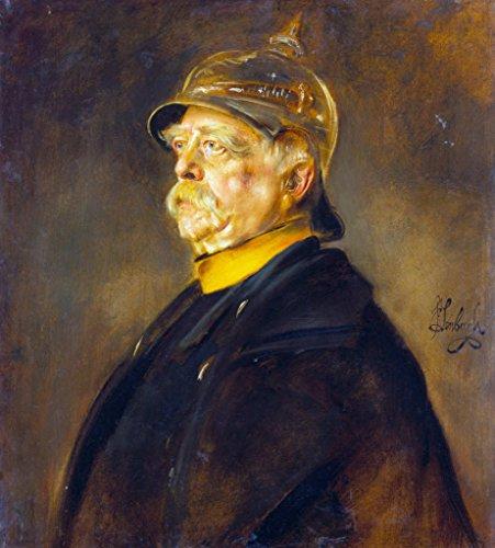 Kunstdruck/Poster: Franz Von Lenbach Fürst Otto von Bismarck im Profil mit Kürassierhelm - hochwertiger Druck, Bild, Kunstposter, 50x55 cm